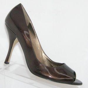 AK Anne Klein 'Maemory' brown patent heels 8.5M